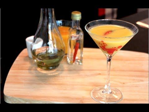Spicy Kaffir Lime Cocktail - Hot Thai Kitchen