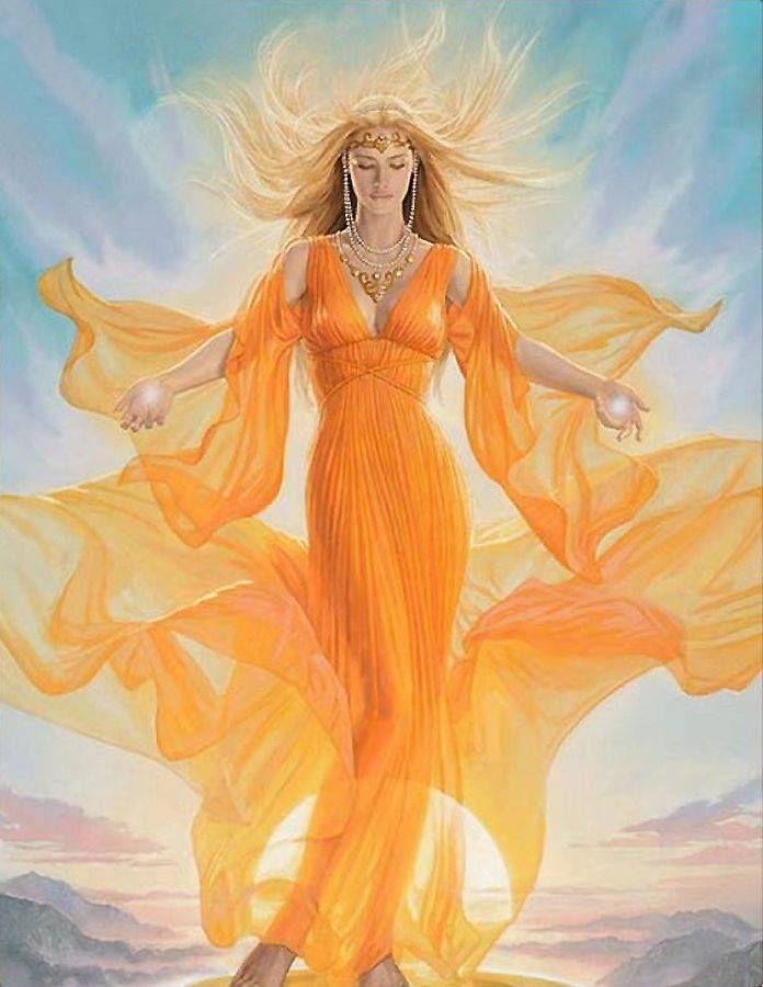 Diosa de la luz solar