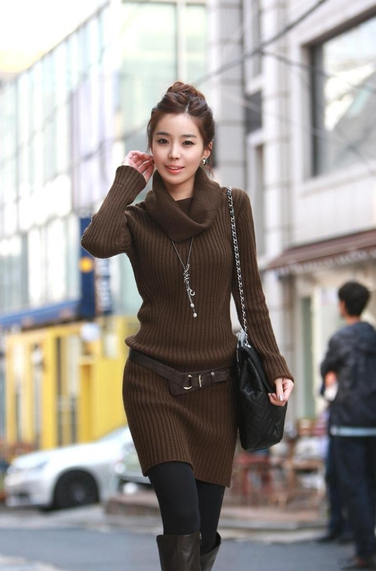 Brown Sweater Dress | Dress images