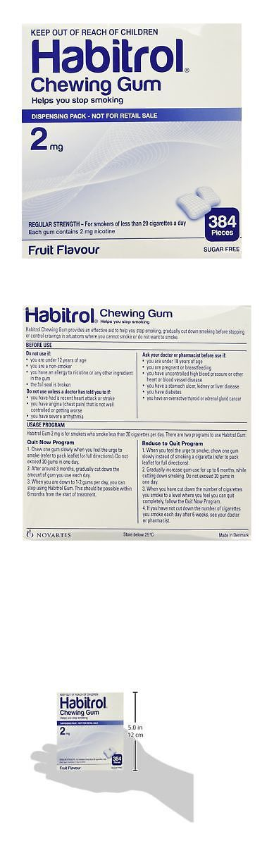 Gum and Lozenges: Habitrol Nicotine Gum 2Mg Fruit Bulk 384 Pieces -> BUY IT NOW ONLY: $52.99 on eBay!