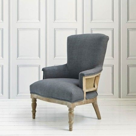 Deconstructed Armchair in Grey Linen - Chairs & Armchairs - Chairs - Furniture