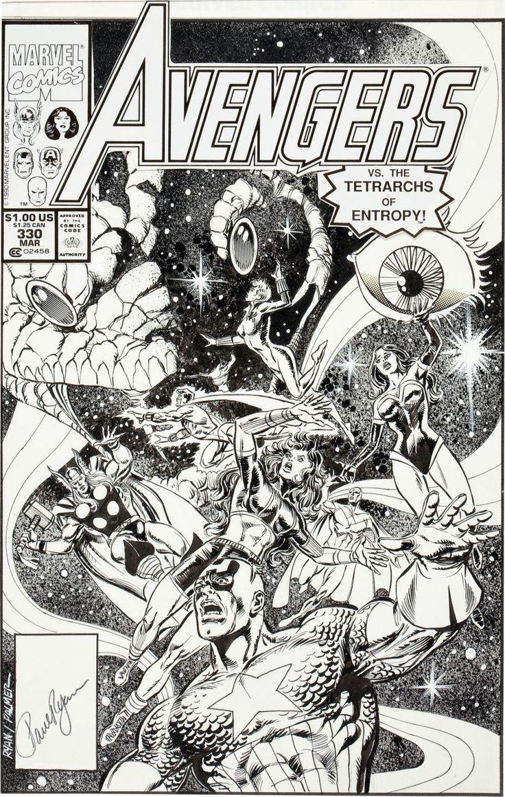 Original Comic Art Covers Paul Ryan And Tom Palmer