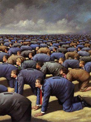 by Rafal Olbinski (b.1945), a Polish illustrator, painter, and educator, living in the US