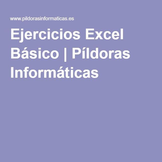 Ejercicios Excel Básico   Píldoras Informáticas
