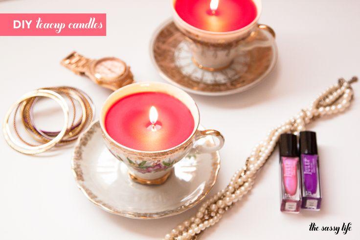 DIY Teacup Candles | thesassylife