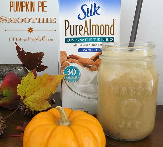 Pumpkin Pie Smoothie #SilkHoliday (can be made with or without alcohol. Perfect for holiday entertaining!