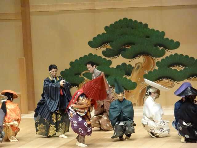 Japanese Noh comedy,Mushroom(茸).Mansai Nomura plays a mountain priest.