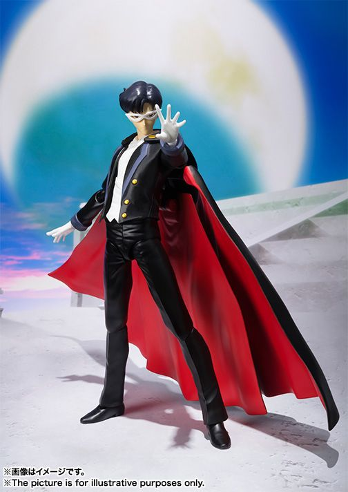 Tamashii Nations S.H. Figuarts Tuxedo Mask Figure! More images and shopping links here http://www.moonkitty.net/buy-bandai-tamashii-nations-sailor-moon-sh-figuruarts-figures-models.php #sailormoon #tuxedomask