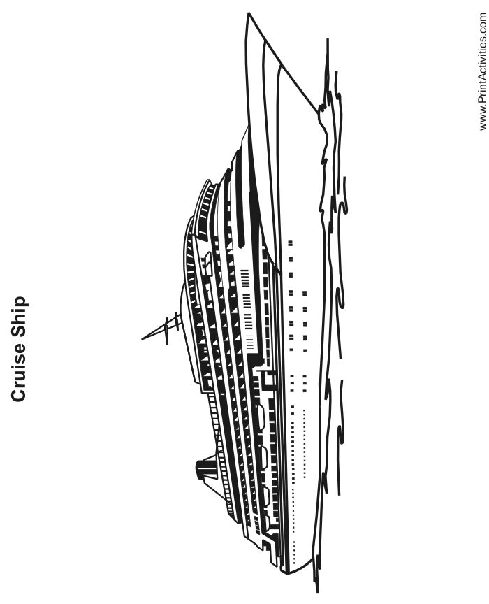 24 best images about ship coloring pages on pinterest for Cruise ship coloring page