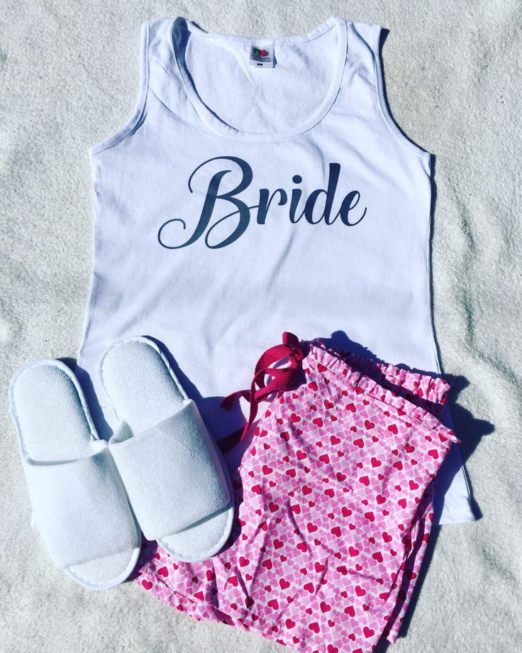 bride pajama set, bride pyjamas, bride slippers, bride pyjs, bridal night wear,bridal pajamas, personalised pajamas, pyjs,pyjamas, bride by personaliseddiamante on Etsy https://www.etsy.com/uk/listing/507340710/bride-pajama-set-bride-pyjamas-bride