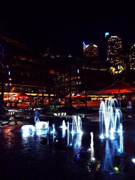 Darling Harbour Park, Sydney. Looks so pretty after they revamped it in 2012 :)