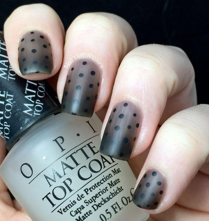 Black Out (via Bloglovin.com ) black polka dot nail art design