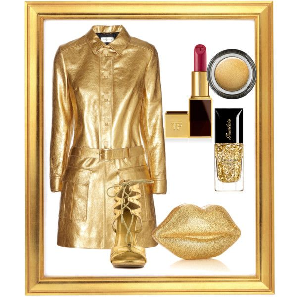 """Gold"" by yvonwouters on Polyvore"