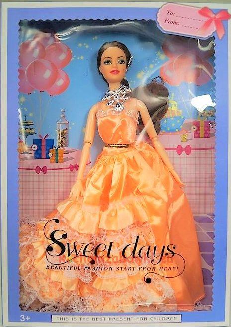lalka panna młoda pomarańczowa