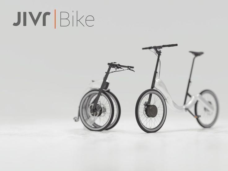 世界初!チェーンのない折りたたみ電動自転車「JIVR | Bike」