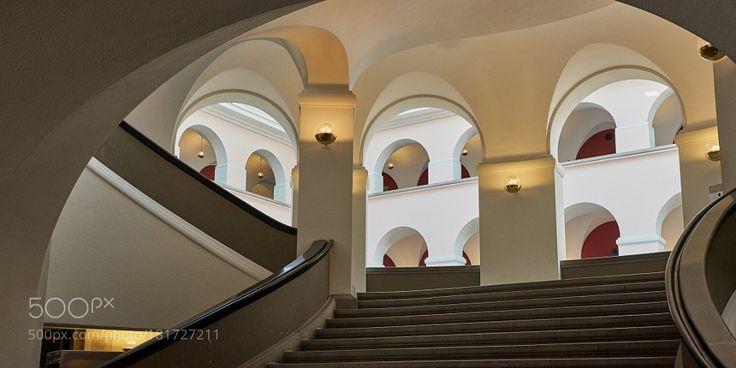Main Stairway UZH Main Building by rolandkunz
