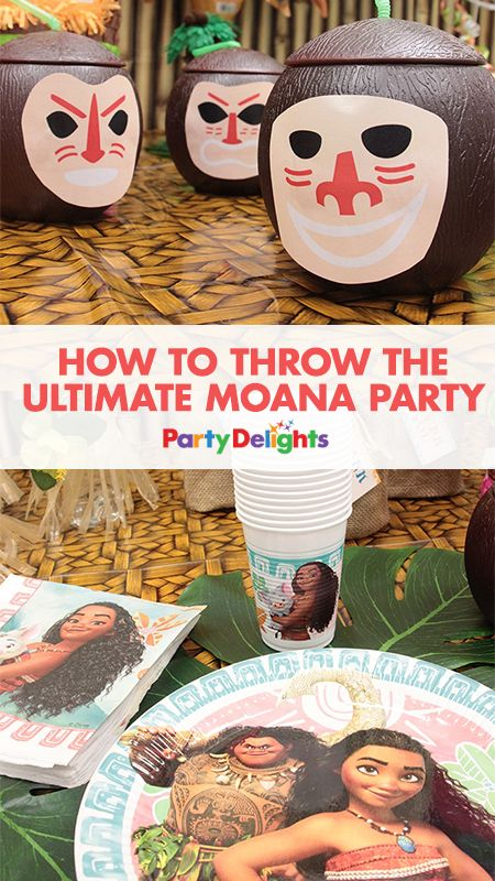 If your kids loved the movie, then they'll love this Moana birthday party! Read our full blog post to find out how to throw the ultimate Moana party with party decorations, party food ideas, party games and more.