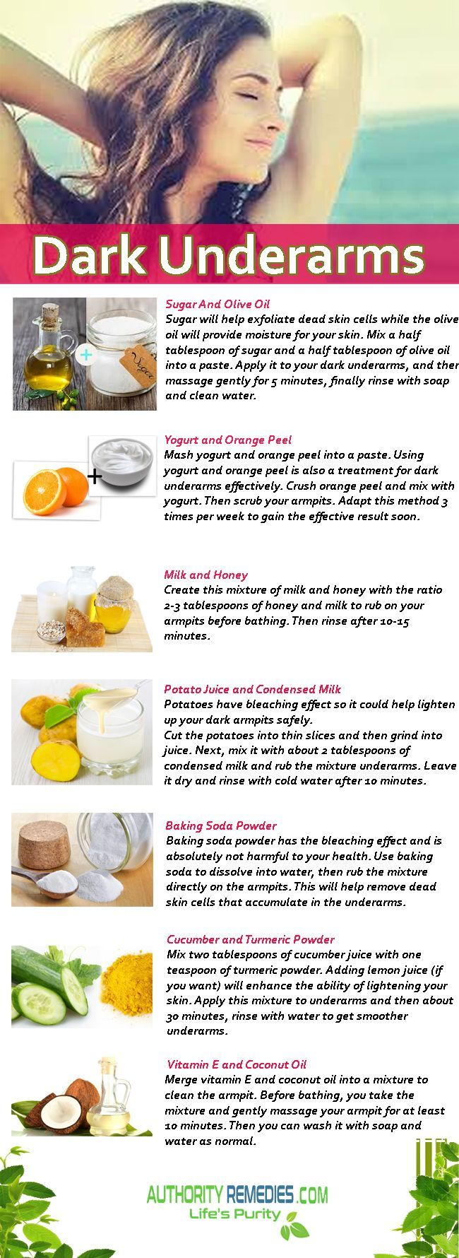 Best 25 dark armpits ideas on pinterest baking soda coconut oil how to get rid of dark underarms which are simple and easy for you ladies to ccuart Image collections