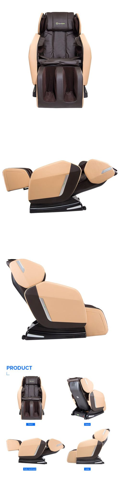 Electric Massage Chairs: Real Relax Full Body Shiatsu Massage Chair Recliner Zero Gravity Foot Roller BUY IT NOW ONLY: $597.0