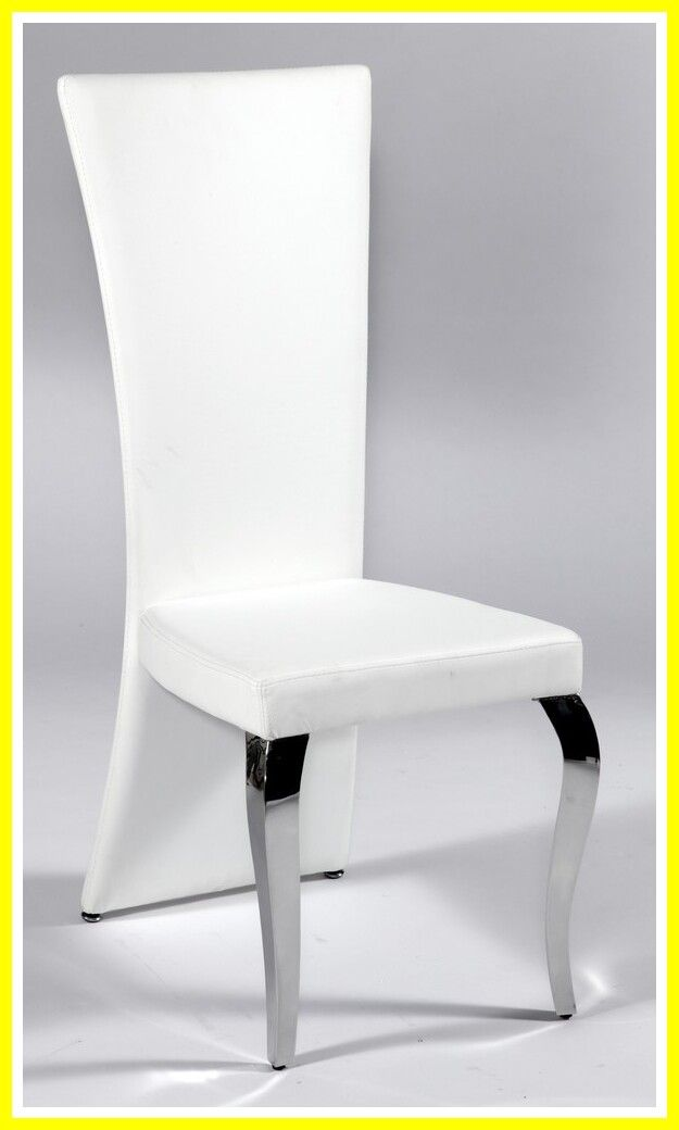 54 Reference Of White Leather Dining Chair With Chrome Legs In