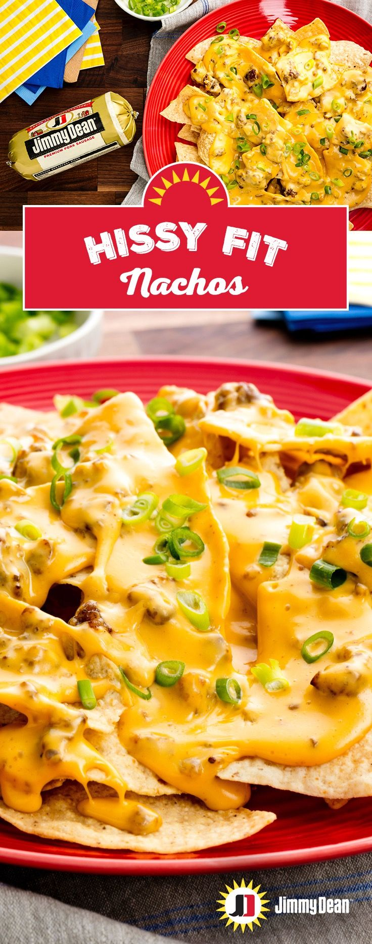 This southern favorite is named for the freakout people have when the dip's all gone. A slow cooker makes this ultimate game-day appetizer: Just turn it on, throw Jimmy Dean Premium Pork Sausage, cheese, sour cream, onion powder and basically everything except the kitchen sink in then slather over a bed of nachos.