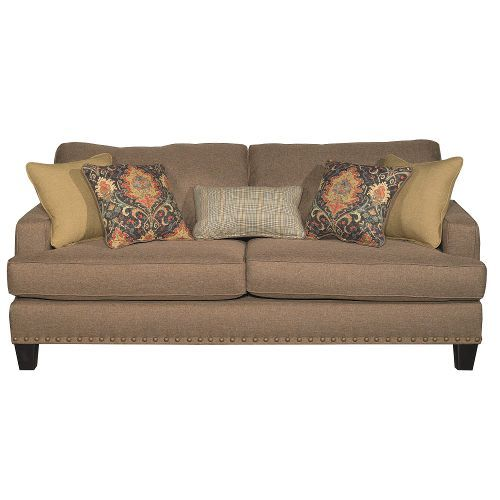 Maxwell Pecan Brown Upholstered Casual Traditional Sofa