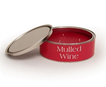 Mulled Wine Large Filled Tin by Pintail Candles