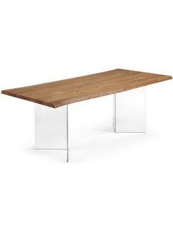 Affascinante e unico tavolo. Un'armoniosa combinazione di due materiali di diversa natura. La luminosità del cristallo e la naturalezza del legno di rovere. Un tavolo davvero invitante, intimo ed accogliente, per fare un gran bella figura con gli amici quando vi verranno a trovare a casa. Di design. Conferisce stile al vostro ambiente.