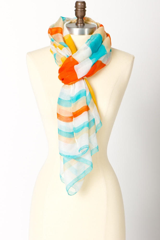such good colors: Summer Scarves, Colors Combos, Outfits Fashion, Summer Beach, Summer Outfits, Stripes Scarfs, Summer Stripes, Summer Colors, Summerish Colors