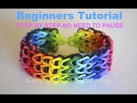 Rainbow Loom-Multicolor Triple Single bracelet for beginners-STEP BY STEP - YouTube
