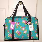 ◔✾ nwt LUV BETSEY  FLORAL WEEKENDER #teal blue PINK #ROSES QUILTED/DUFFLE/T... Top http://j.mp/2ALfvng