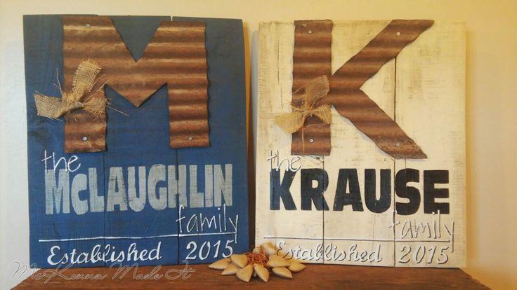 Family Established Wood Sign w/ Barn Tin by McKennaMadeIt2013
