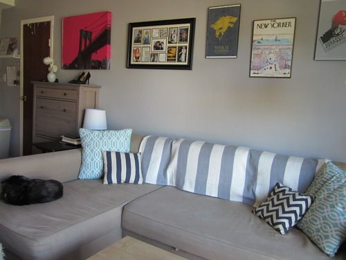 ikea friheten corner sofa bed couch in a small nyc