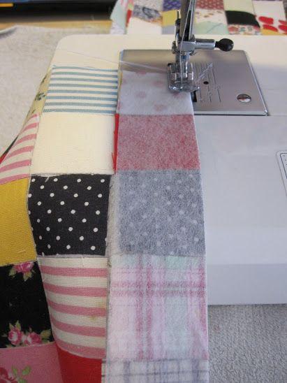 My Postage-Stamp Scrap Fabric Patchwork Quilt