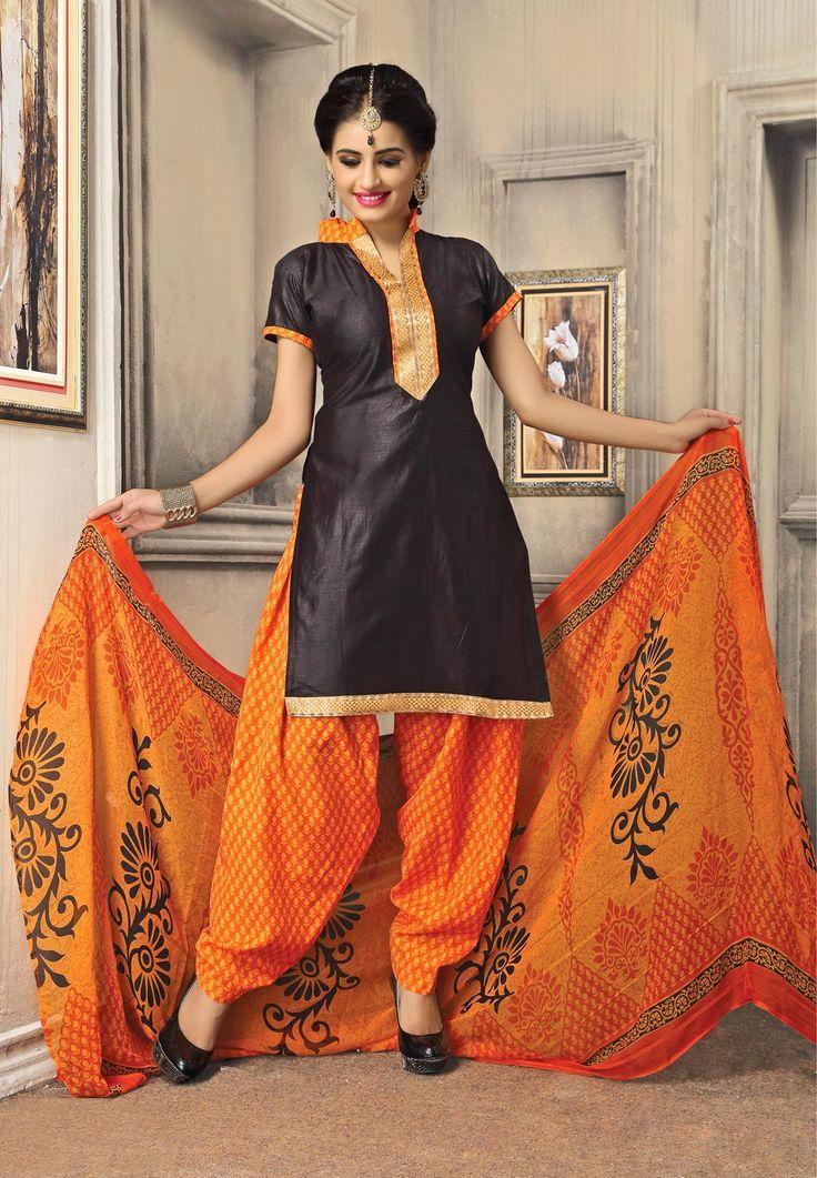 Gray Cotton Punjabi Suit 59540