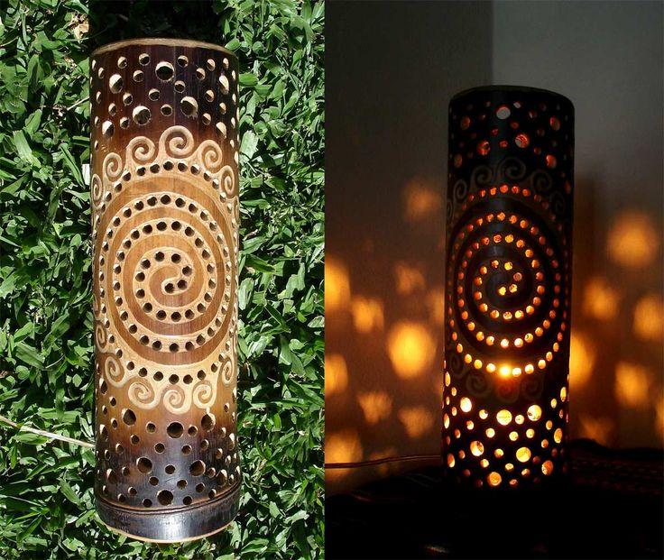 lamparas em bambu - Buscar con Google