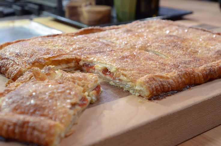 Rick Bayless | Puff Pastry with Quince and Cheese -- make with ham and cheese for appetizer