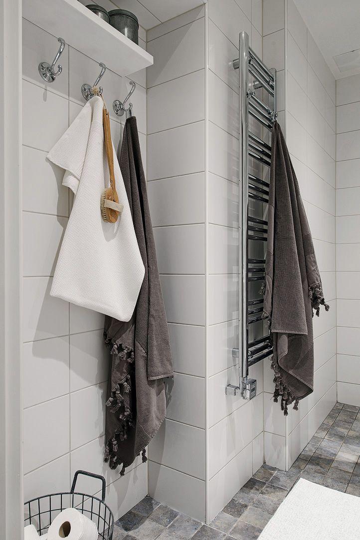 Handduksvärmare levererar en skön handduk