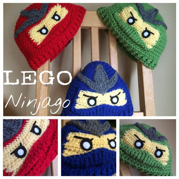 What?! A patten for only $2 can't go wrong!!LEGO Ninjago Hat Pattern Child Sizes by Designsbyhook on Etsy