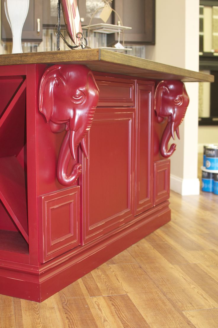 This is the ultimate Crimson Tide island/bar for your man cave.  This is in our showroom at our Tuscaloosa, Alabama store.  Roll Tide Roll!!! 205 345-6080