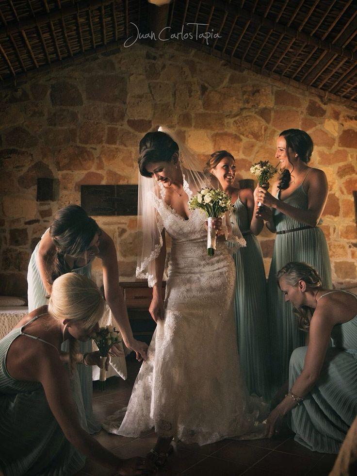 Bridal party hair and makeup at Rancho Leonero