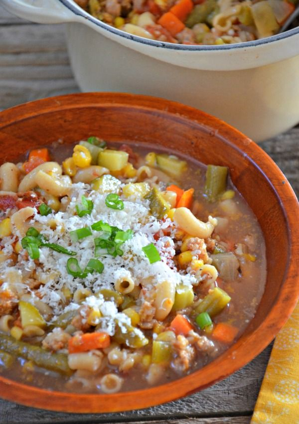 Ski Soup Recipe with Italian Sausage from @Kelley Epstein {Mountain Mama Cooks}