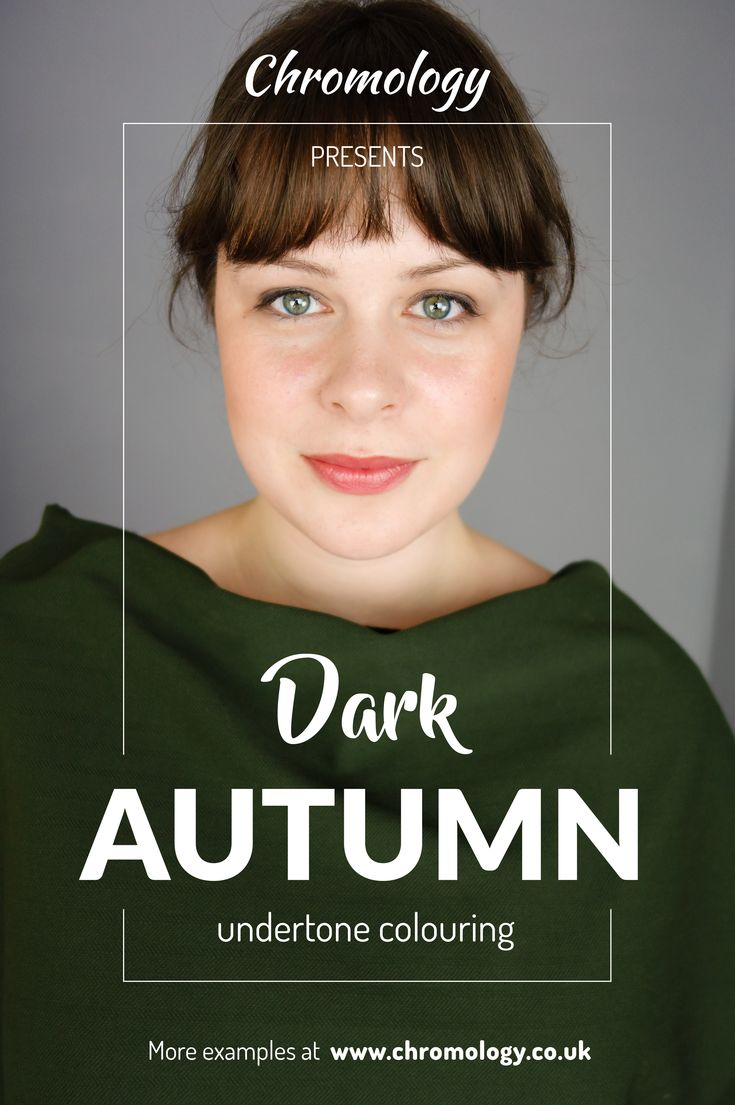 Dark Autumn colouring in the #SciART 12-tone personal #ColourAnalysis system. See more examples at: http://chromology.co.uk/portfolio-category/client-photos/