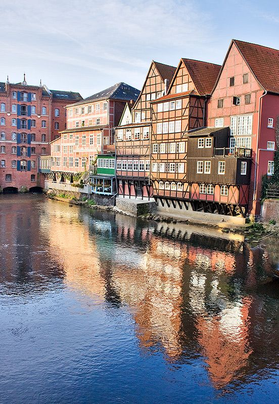 Lüneburg, Am Stint, Germany http://666travel.com/top-tourist-attractions/top-tourist-attractions-in-germany/