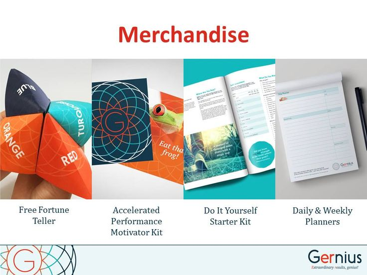 Your success depends on your commitment - use the great tools we sell at  www.gernius.com/shop to keep you accountable.