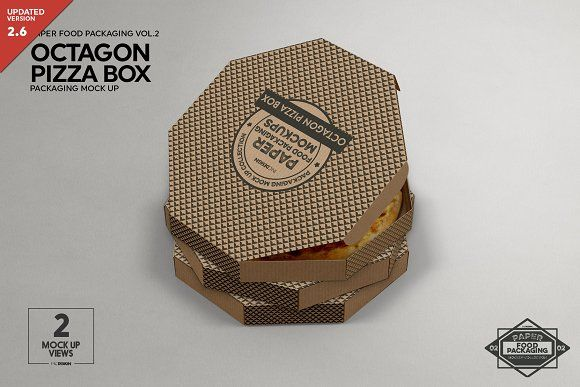 Download Octagon Pizza Box Packaging Mockup Mockup Packaging Mockup Design Mockup Free