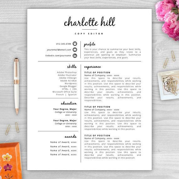 17 Best ideas about Teacher Resume Template on Pinterest ...