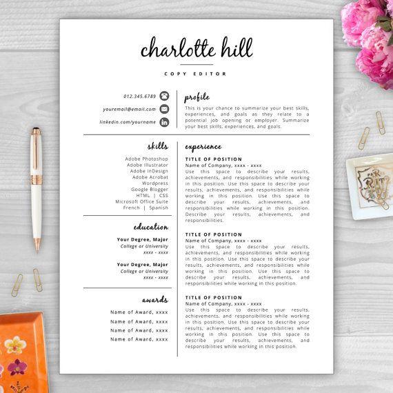 11 best CV images on Pinterest Resume templates, Resume design and