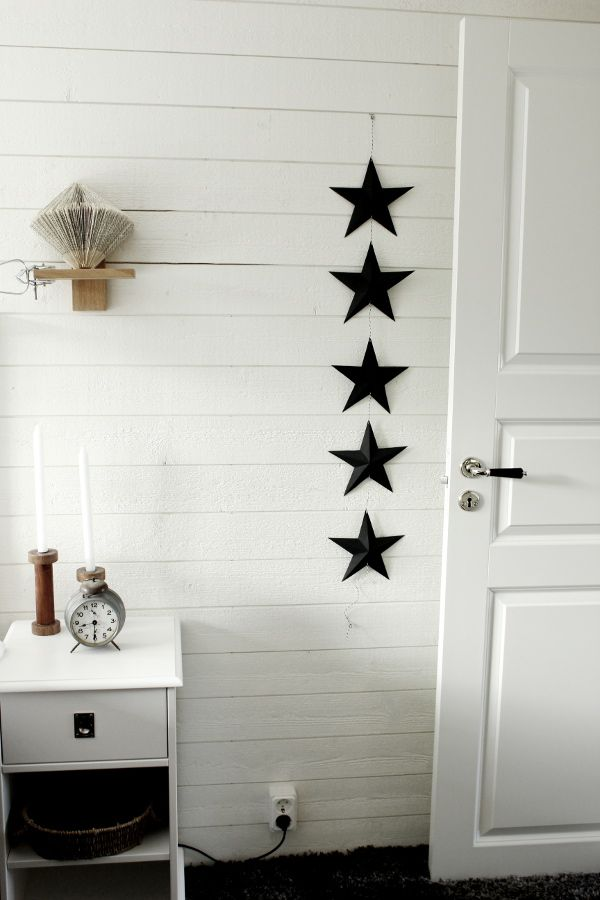 svart, vitt & rött: DIY stjärna