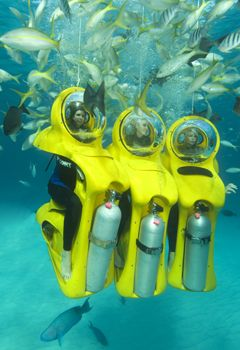 So I just came back from the Bahamas and if you ever visit, you MUST do a Subdive, your basically riding an underwater scooter through the reef... And I tell you, It will be an unforgetable, amazing experience...
